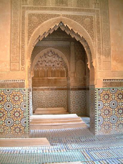 Marrakech Maroc facade architecture tombeaux musee