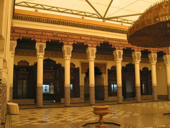 Marrakech Maroc musee architecture cour